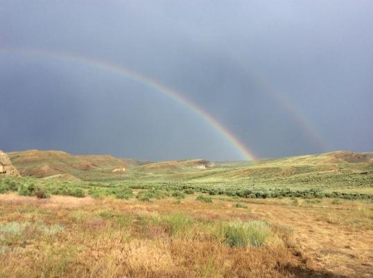 Rainbow over the Hanna Basin